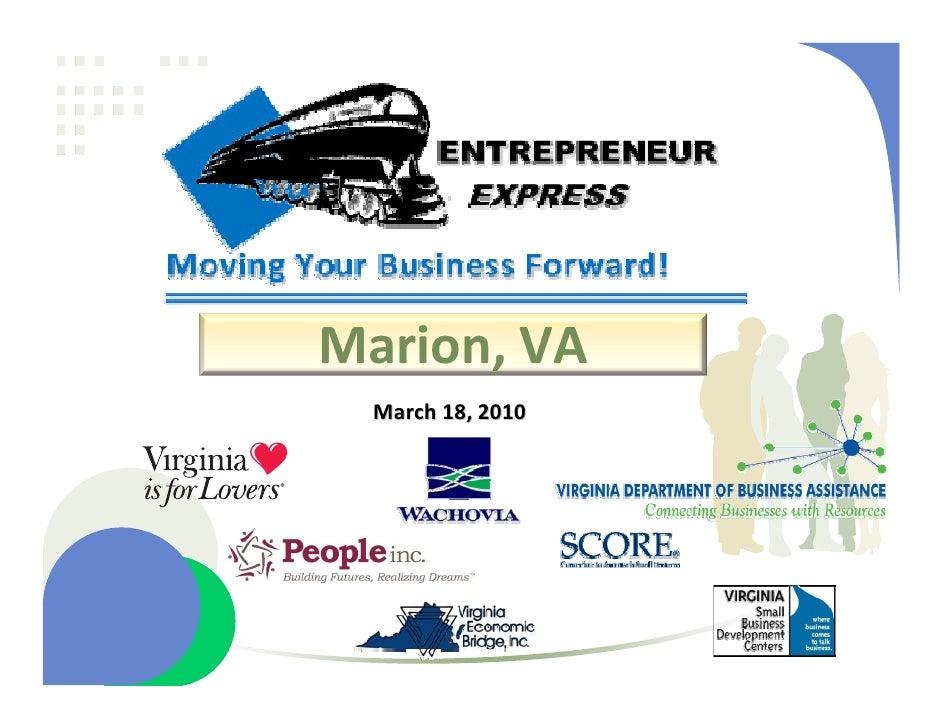 Smyth Entrepreneur Express #4 Presentation, March 18, 2010