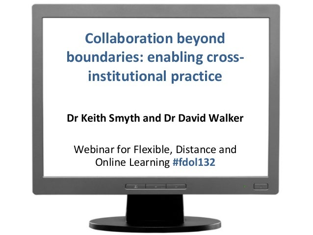 Collaboration beyond boundaries: enabling cross-institutional practice