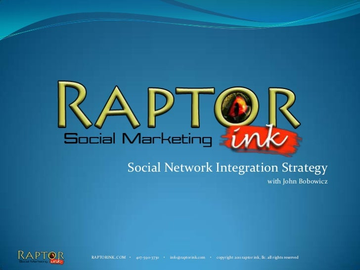 Social Network Integration Strategy<br />with John Bobowicz<br />