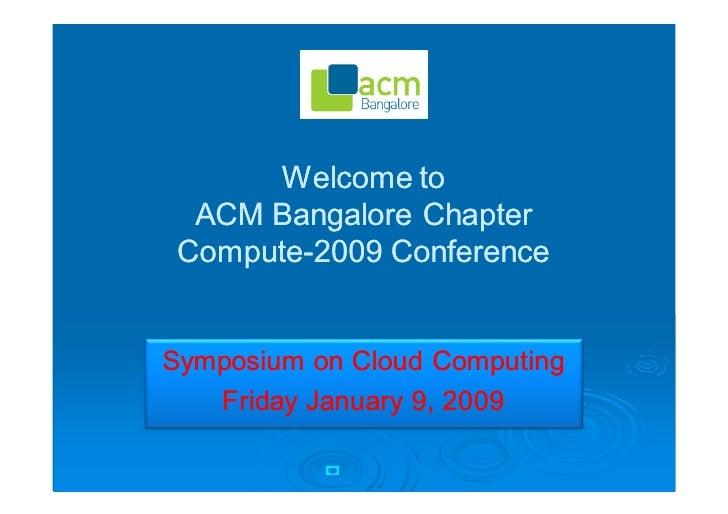 Opening Remarks - Cloud Symposium