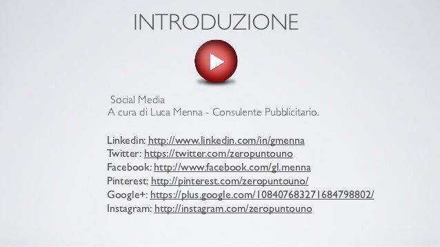 Introduzione ai Social Media. YouTube. A cura di Luca Menna.