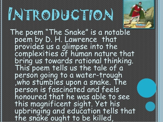 review of snake by dh lawrence Snake - online text snake analysis dh lawrence critical analysis of poem, review sinopsis interpretation critique snake analysis dh lawrence itunes audio.