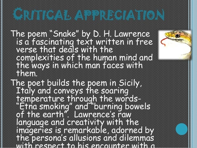 """d h lawrence s critical views in his The author's vivid evocation of the all-consuming nature of possessive love and sexual attraction makes this one of his most powerful novels for the critic kate millett, """"sons and lovers is a great novel because it has the ring of something written from deeply felt experience the past remembered, it conveys more of."""