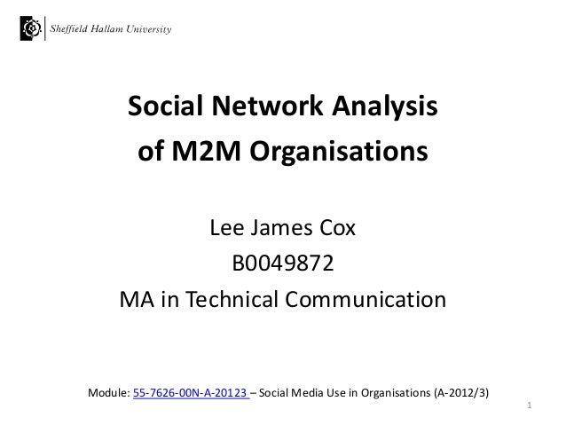 Module: 55-7626-00N-A-20123 – Social Media Use in Organisations (A-2012/3)Social Network Analysisof M2M OrganisationsLee J...