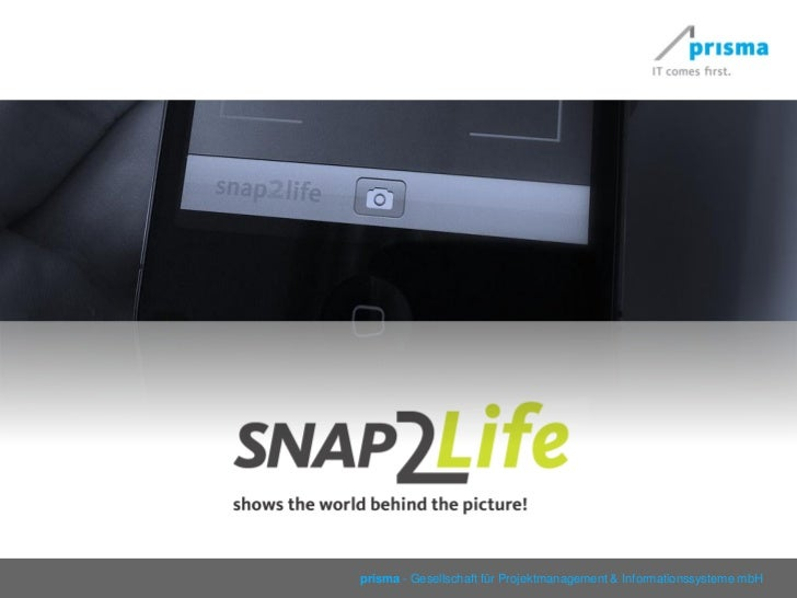 snap2life app 2011 mobile image recognition