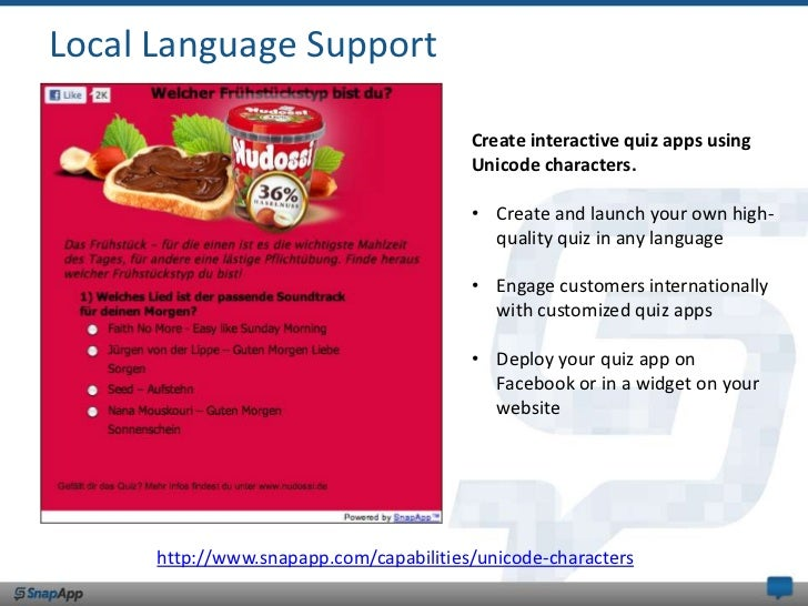Local Language Support<br />Create interactive quiz apps using Unicode characters.<br /><ul><li>Create and launch your own...
