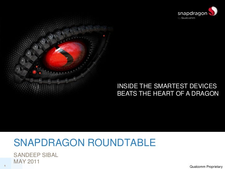INSIDE THE SMARTEST DEVICES                    BEATS THE HEART OF A DRAGON    SNAPDRAGON ROUNDTABLE    SANDEEP SIBAL    MA...