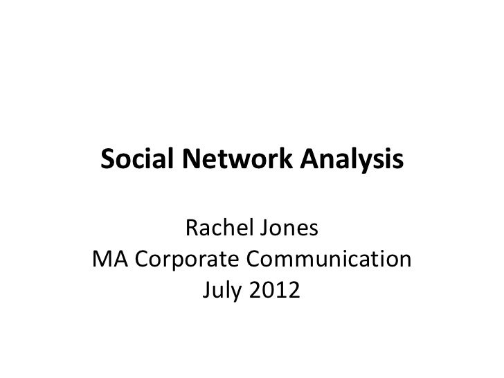 Social Network Analysis presentation