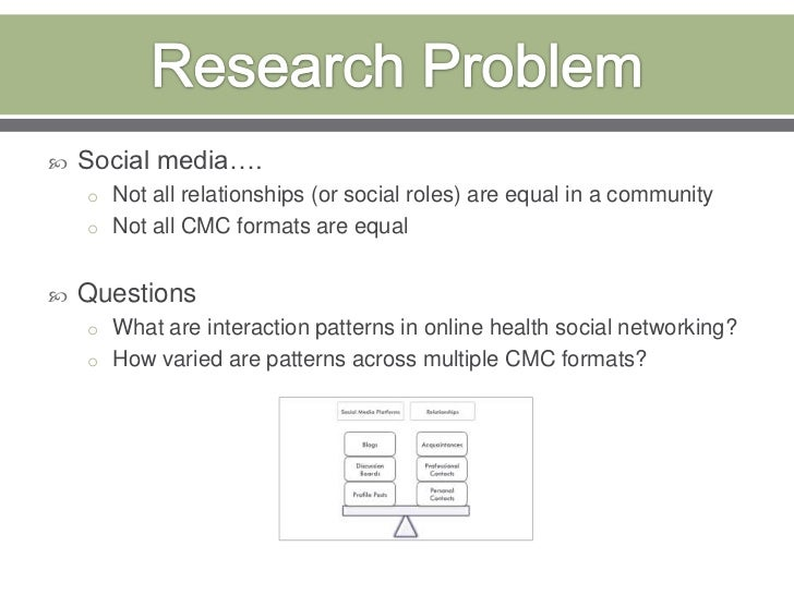 Research Problem<br />Social media….<br />Not all relationships (or social roles) are equal in a community<br />Not all CM...