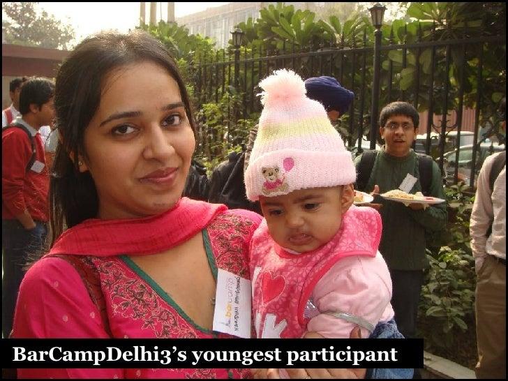 BarCampDelhi3's youngest participant