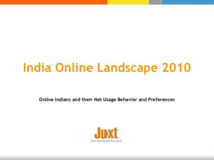 Snapshot of-juxt-india-online-landscape-2010-press
