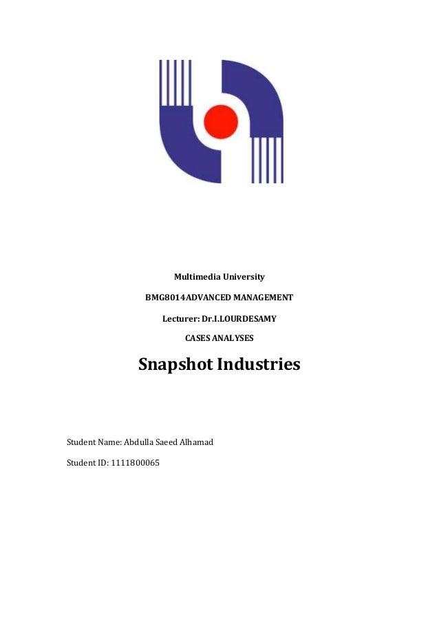 Snapshot industries