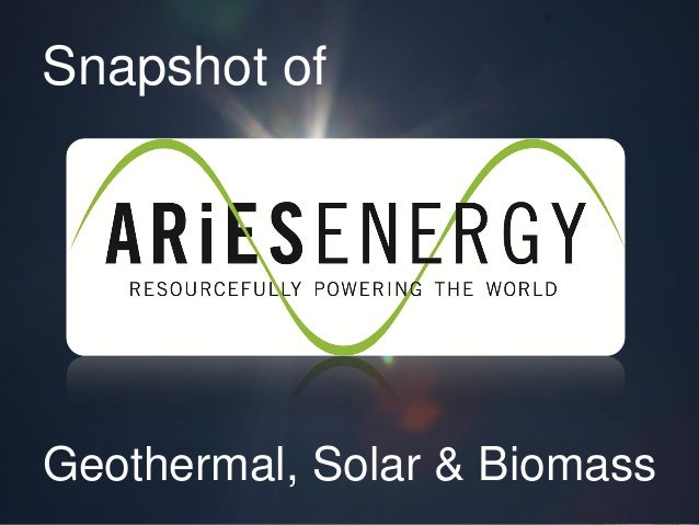 Snapshot of Geothermal, Solar & Biomass