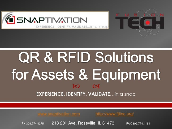 Snaptivation qr & rfid solutions r2