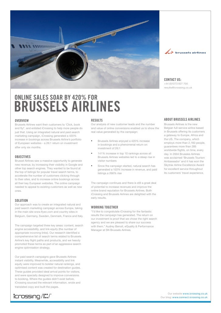 Sn Brussels Airlines Icrossing Case Study
