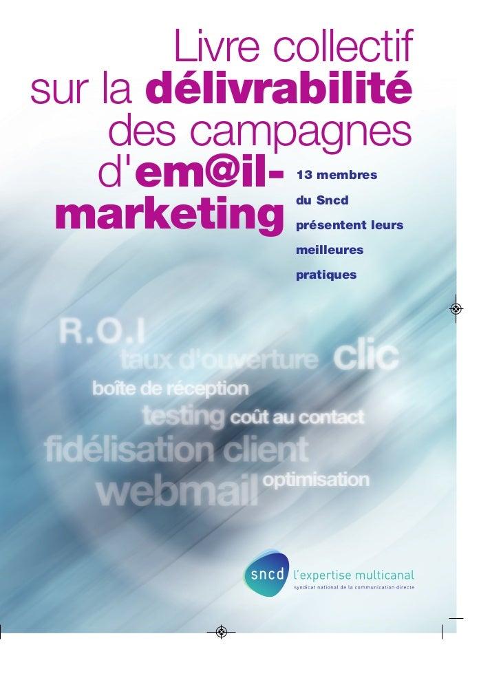 Livre collectifsur la délivrabilité     des campagnes    dem@il-   13 membres               du Sncd marketing     présente...