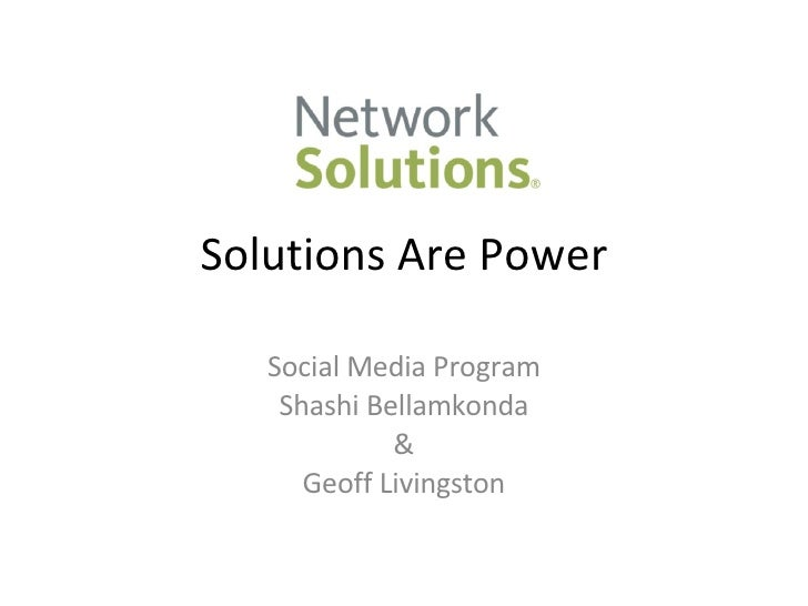Reputation Management Case study - Network Solutions at New Comm Forum