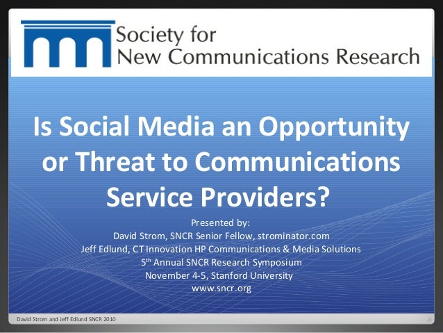 Social Media Research at Comms Service Providers