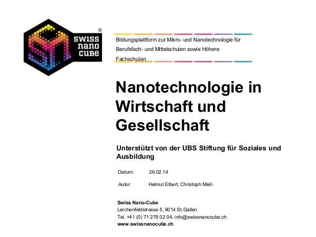 Bildungsplattform zur Mikro- und Nanotechnologie für Berufsfach- und Mittelschulen sowie Höhere Fachschulen  Nanotechnolog...