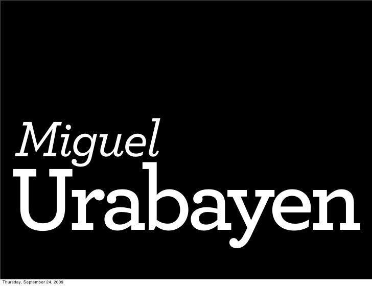 SND09 Lifetime Achievement Award: MIGUEL URABAYEN