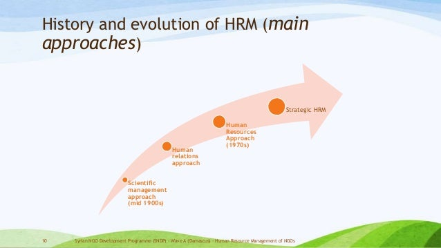 an overview of the historical development of human resource management