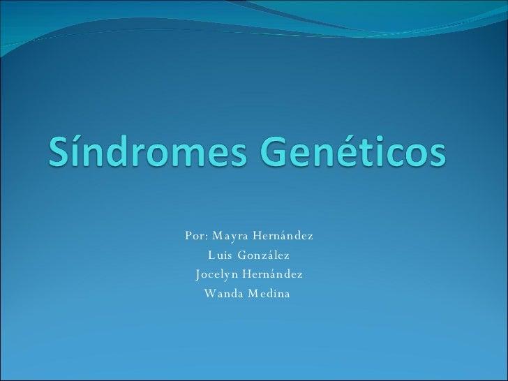 Síndrome GenéTico