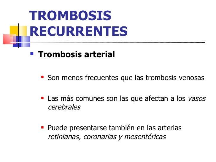 La operación la tromboflebitis del pie