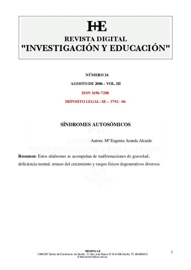 REVISTA I+E  CSI—CSIF Sector de Enseñanza de Sevilla - C/ San Juan Bosco 51 B 41008 Sevilla. Tlf. 954069012  E-Mail ense41...