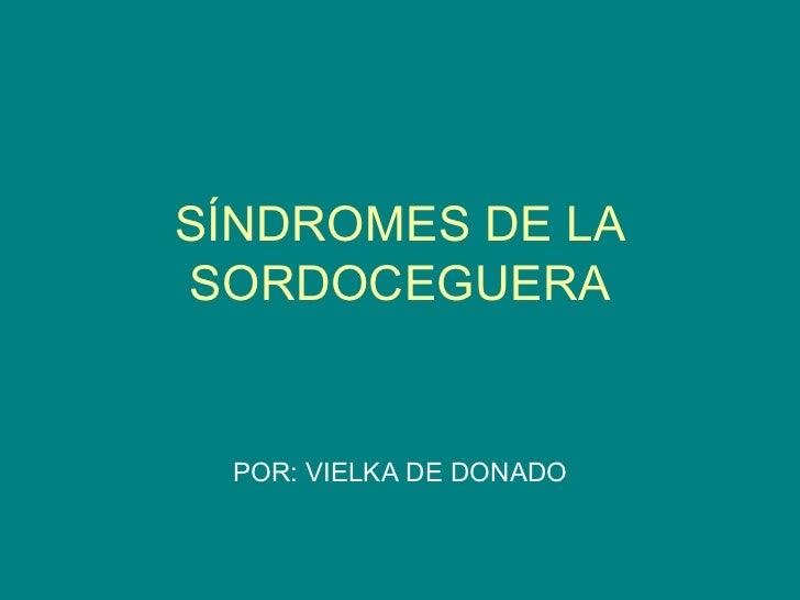 Síndromes de la sordoceguera