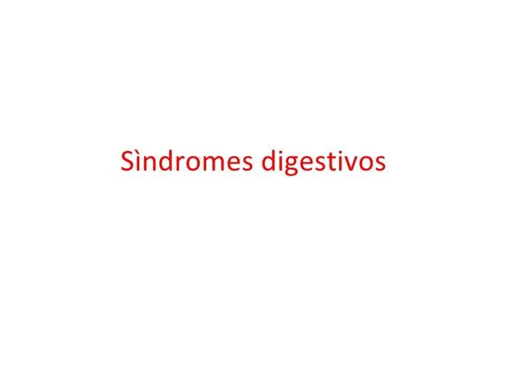 Sìndromes digestivos