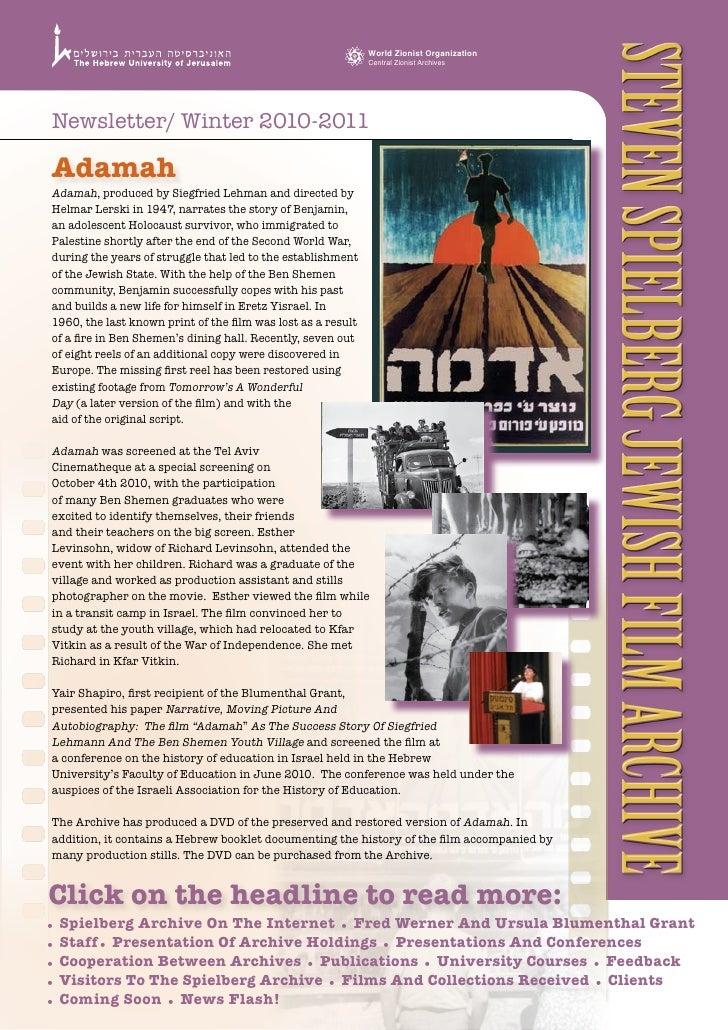 Steven Spielberg JewiSh Film Archive                                                               World Zionist Organizat...