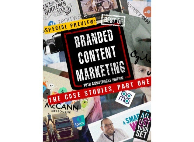 BOBCM: Case Studies Part 1 - Best of Branded Content Marketing Volume II