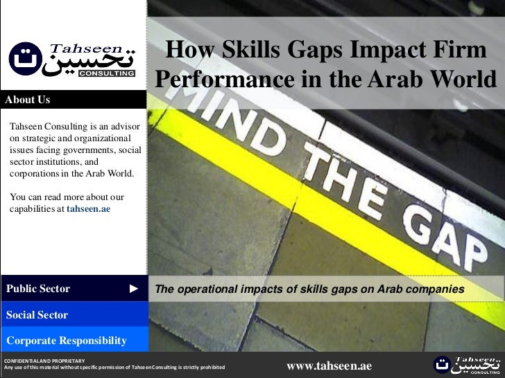 How Skills Gaps Impact Firm Performance In The Arab World