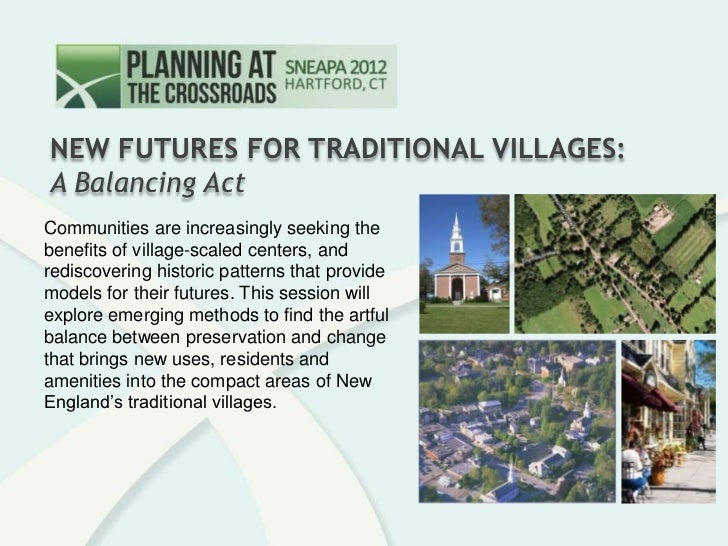 New Futures for Traditional Villages