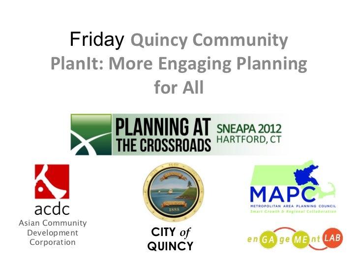 Quincy Community PlanIt