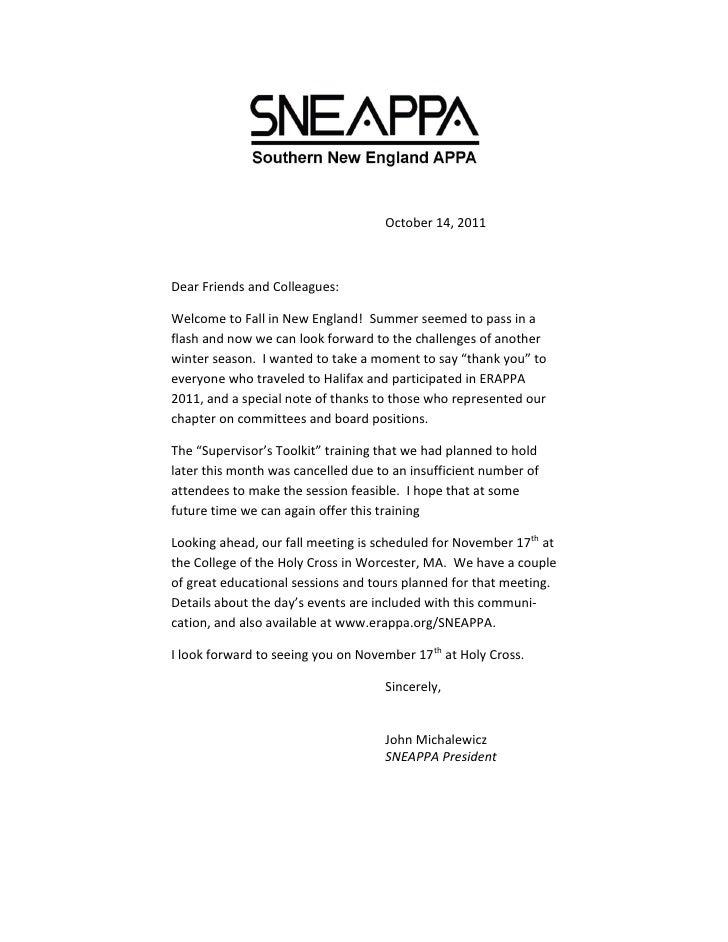 SNEAPPA Nov 2011 Meeting