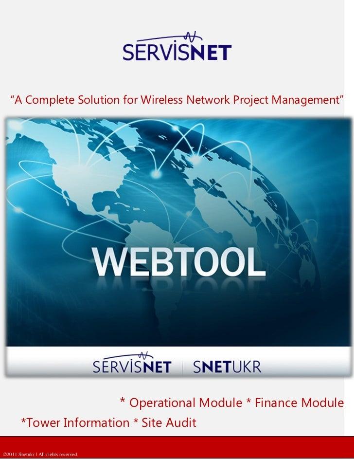 Snetukr Webtool Brochure