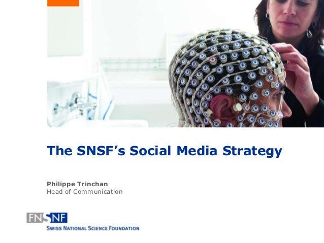 Social Media @ Swiss National Science Foundation - SNF