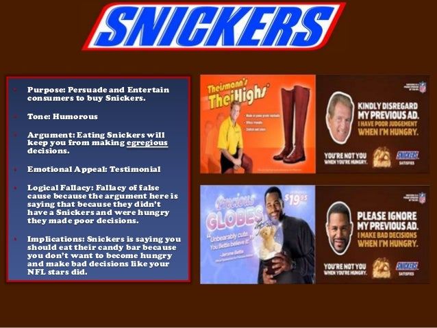 fallacies in commercials With commercials, they strive to be  fallacies of relevance fallacies of relevance are attempts to prove a conclusion by offering considerations that simply don.