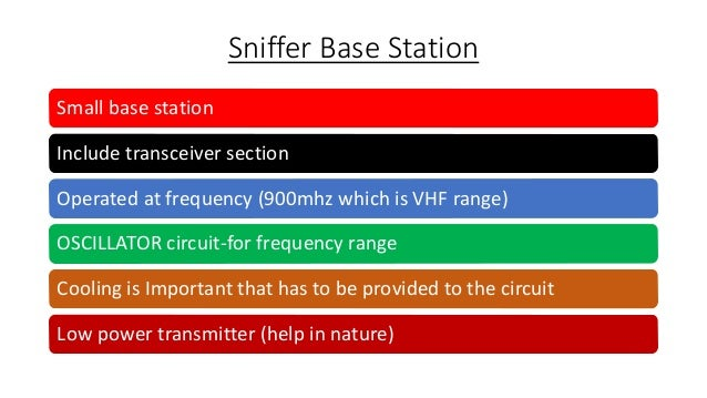 Sniffer for Detecting Lost Mobiles PPT