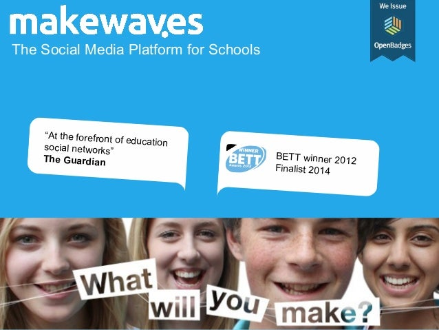 """The Social Media Platform for Schools """"At the forefront of educationsocial networks"""" The Guardian BETT winner 2012 Finalis..."""