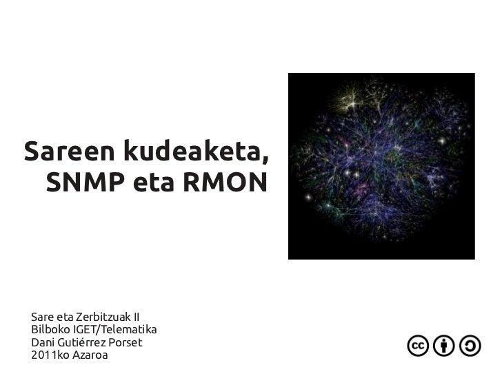Sareen kudeaketa, SNMP eta RMONSare eta Zerbitzuak IIBilboko IGET/TelematikaDani Gutiérrez Porset2011ko Azaroa
