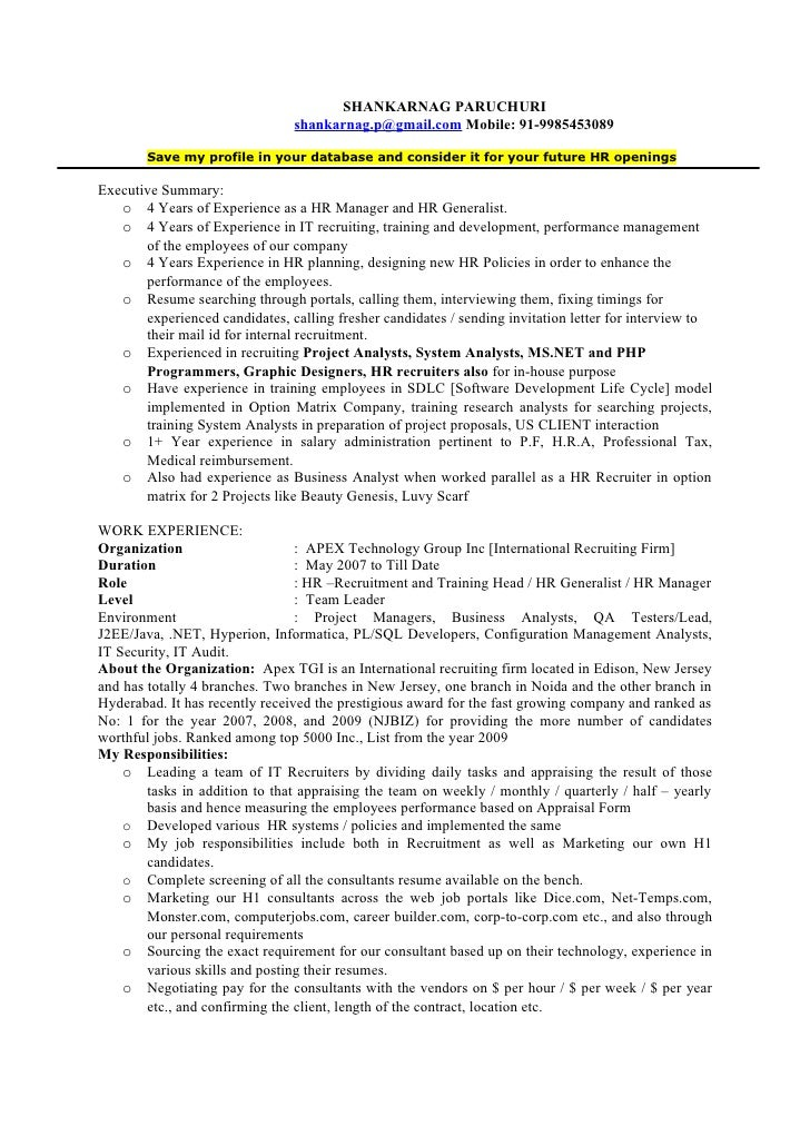 HR Lead / Manager / Recruitment & Training Head
