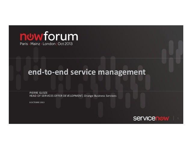 end-to-end service management avec ServiceNow (français)
