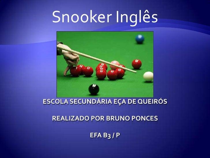 Snooker Inglês