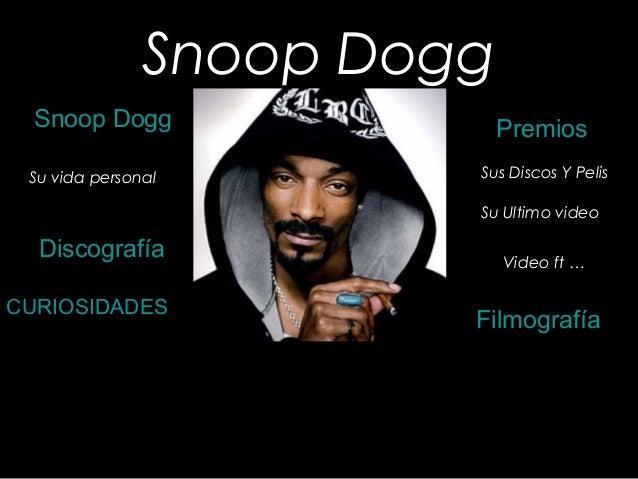 Snoop Dogg Snoop Dogg Discografía CURIOSIDADES Filmografía Premios Sus Discos Y PelisSu vida personal Su Ultimo video Vide...