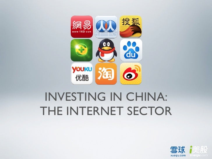INVESTING IN CHINA:THE INTERNET SECTOR