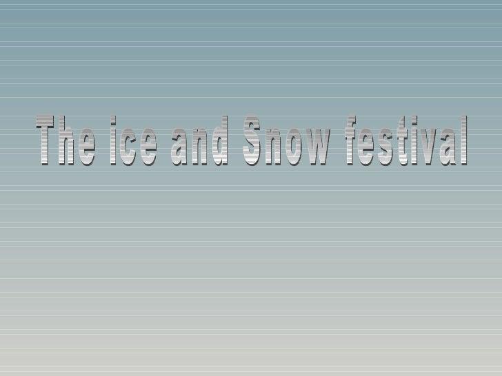 Snow Icefestival