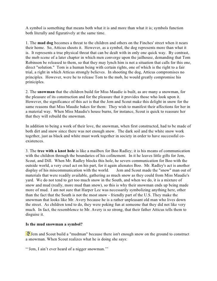 how to kill a mockingbird chapter 4 summary