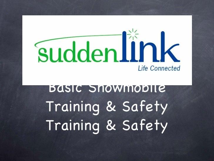 Basic Snowmobile Training & Safety Training & Safety